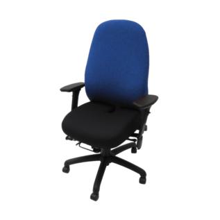 Chaise ergonomique Soma Bleu & Noir