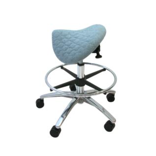 Chaise selle ergonomique Jockey bleu