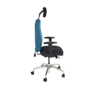 Chaise ergonomique HF2 Chiropod Spinal 300 Bleu Appui tête