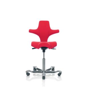 Chaise ergonomique Capisco HAG Rouge