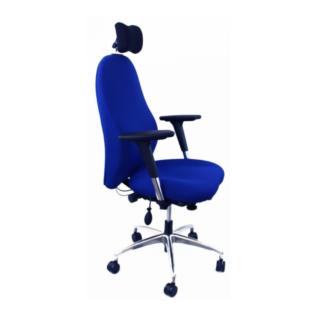 Chaise ergonomique Soma Bleu appui tête