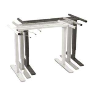 Structure de table réglable en hauteur par manivelle