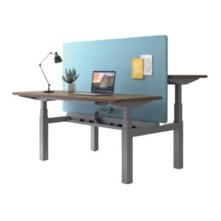 Double table open space avec cloison