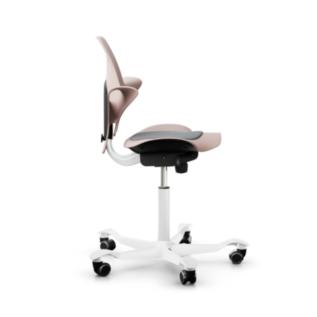 Chaise assis debout ergonomique Pulse HAG Rose Cote