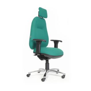 Chaise ergonomique Spinal 500 Turquoise avec Appui Tête