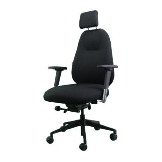 Chaise ergonomique Spinal 500 Noir avec Appui Tête