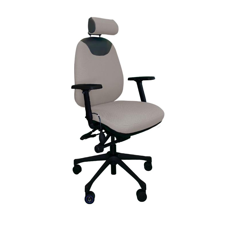Chaise ergonomique Solace 9020 Gris Clair dorsalgie