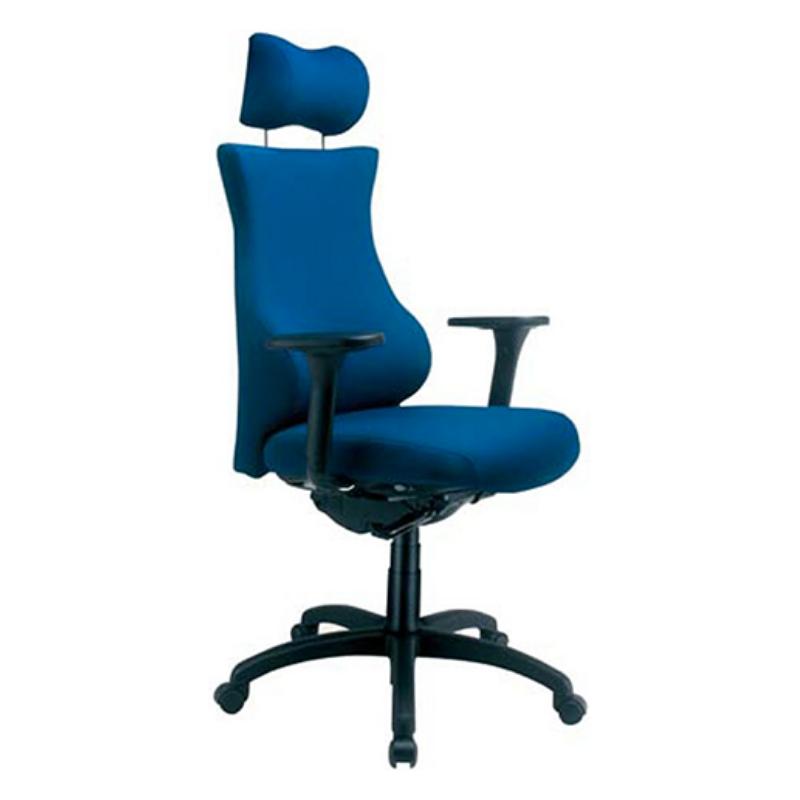Chaise ergonomique grande taille Equi GT Bleu