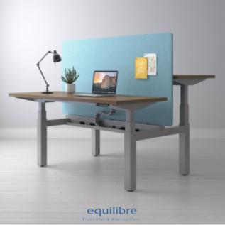 Tables réglables en hauteur double