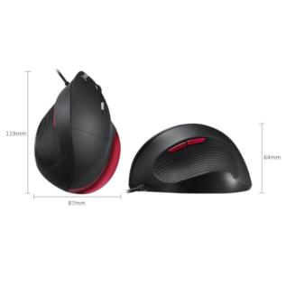 Souris verticale ergonomique PERIMICE 518R taille L rouge & noir