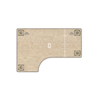 Plateau table compact avec plan retour
