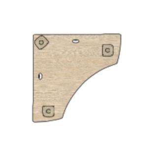 Plateau table symétrique spécifique