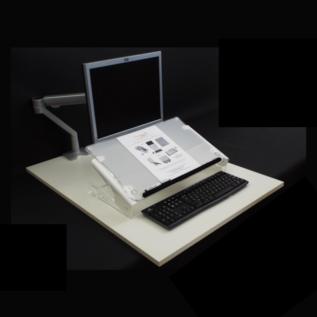 Pupitre et porte documents Clear Slope Pro ergonomique
