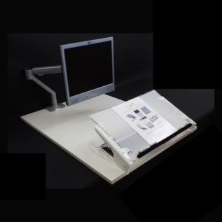 Porte document bureau Clear Slope Pro ergonomique