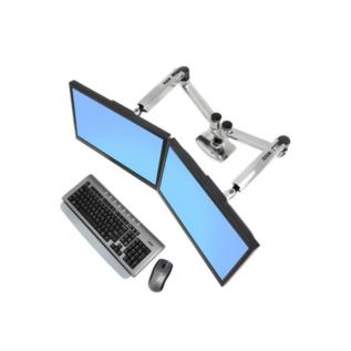 Bi-écran LX Dual Ergotron Aluminium