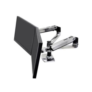 Bras écrans LX Dual Ergotron Aluminium