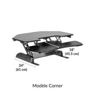 Support Angle Varidesk Corner 36