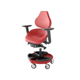 Chaise ergonomique avec bac de rangement Semisitting Integral