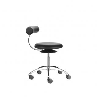 Chaise en cuir Aogo Loeffler avec assise en mouvement