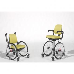 Siège de bureau avec roues et piètement réglable en hauteur pour mobilité- Tripple Wheels