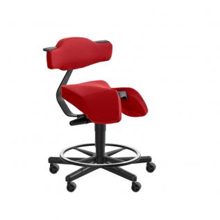 Chaise haute selle rouge avec anneau Solo 3660