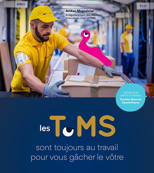 TMS Magasinier mal aux bras