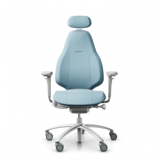Siège ergonomique bleu ciel Mereo 220 design scandinave