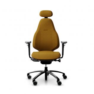 Chaise de bureau moutarde Mereo 220