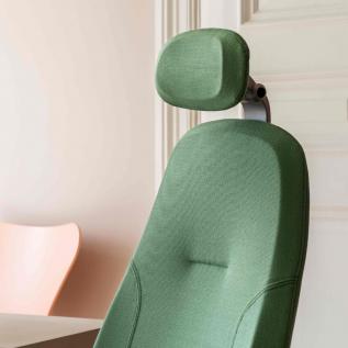 Appui-tête siège ergonomique Mereo 300 vert