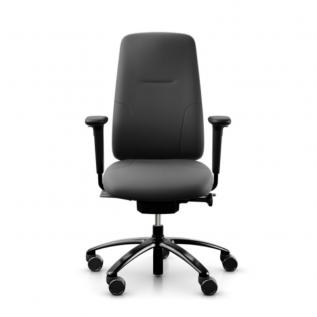 Chaise de bureau simili cuir noir grand dossier equi logic 220