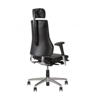 Chaise de bureau en cuir grand dossier Axia