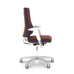 Chaise de bureau rouge et blanche Axia
