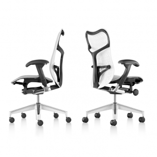 Chaise ergonomique Noir & Blanc espace collectif Mirra