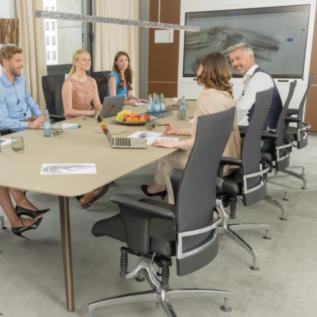 Siege visiteur, salle de réunion et de collaboration Bioswing 660