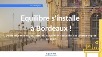 Equilibre Ergonomie & Amenagement s'installe à Bordeaux