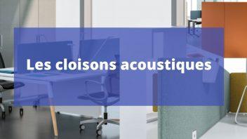 Cloison acoustique pour reduire le bruit en espace ouvert